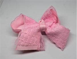 Strik groot Juul met kant roze