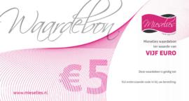 Cadeaubon van 5 euro