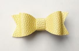 Strik 3d met relief citroen geel