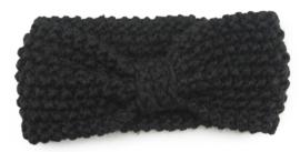 Haarband gehaakt zwart