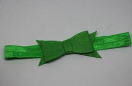 Haarband Dianne vilt groen