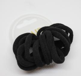 Set haarelastiekjes zwart