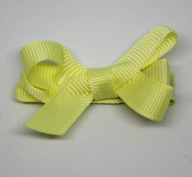 Haarclip dubbele strik klein geel