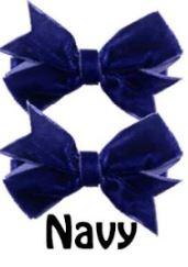 Strikje antislip Fenna fluweel blauw/paars