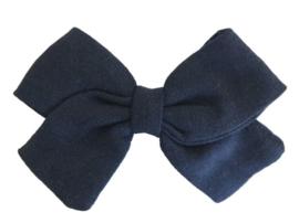 Strik 8cm linnen donkerblauw