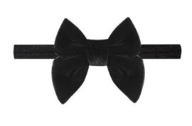 Haarband strik fluweel zwart