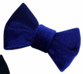 Strik fluweel Jet kobalt blauw