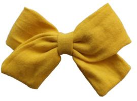 Strik 8cm linnen geel