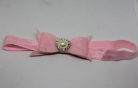 Haarband Dianne vilt luxe roze
