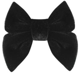 Strik fluweel Marjet klein 7cm zwart