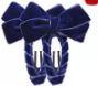 Knipje fluweel blauw/paars