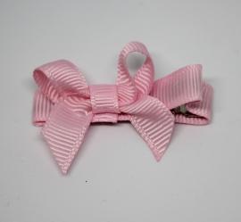 Haarclip strik klein roze