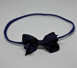 Haarband dubbele strik donkerblauw