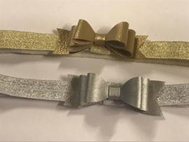 Haarband luxe handgemaakt zilver