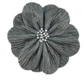 Bloem Lily 8cm donkergrijs