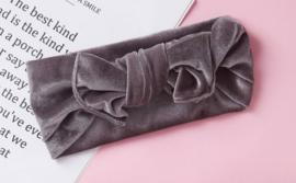Haarband fluweel grijs