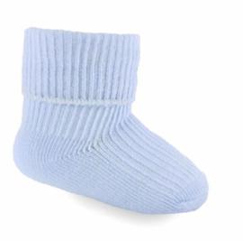 Sokjes babyblauw mt 0-3 mnd