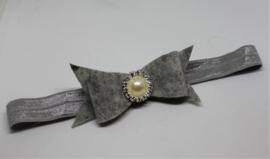 Haarband Dianne vilt luxe grijs