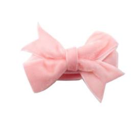 Strikje antislip Fenna fluweel roze