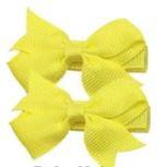 Strikje antislip Fenna geel