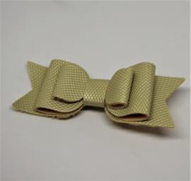 Strik 3d met relief geel / goud