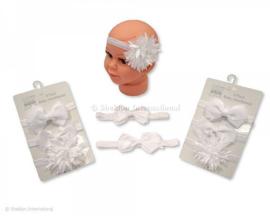 Set haarbanden wit
