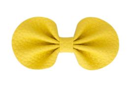 Strik leer 8cm rond geel