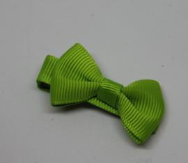 Strikje op clip 4cm groen