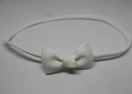 Haarband met klein strikje wit