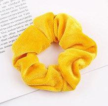Scrunchie fluweel geel