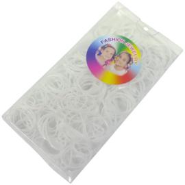 Doosje met 150 stuks rasta elastiek wit
