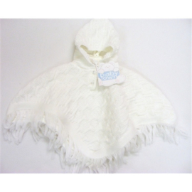 Baby poncho offwhite