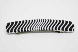 Haarknip zwart/wit streep