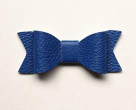 Strik leer 8cm kobalt blauw