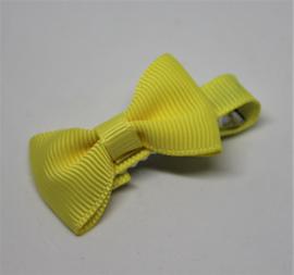 Strikje op clip 4cm geel