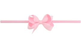 Haarband dubbele strik roze