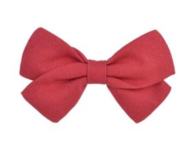 Strik 8cm linnen rood