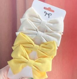 Strik linnen Daisy geel
