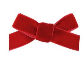 Strik Emily fluweel 7cm rood