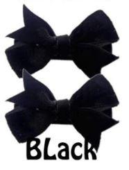 Strikje antislip Fenna fluweel zwart