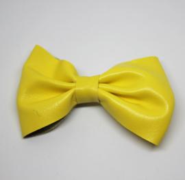 Strik leer 7cm Maaike geel