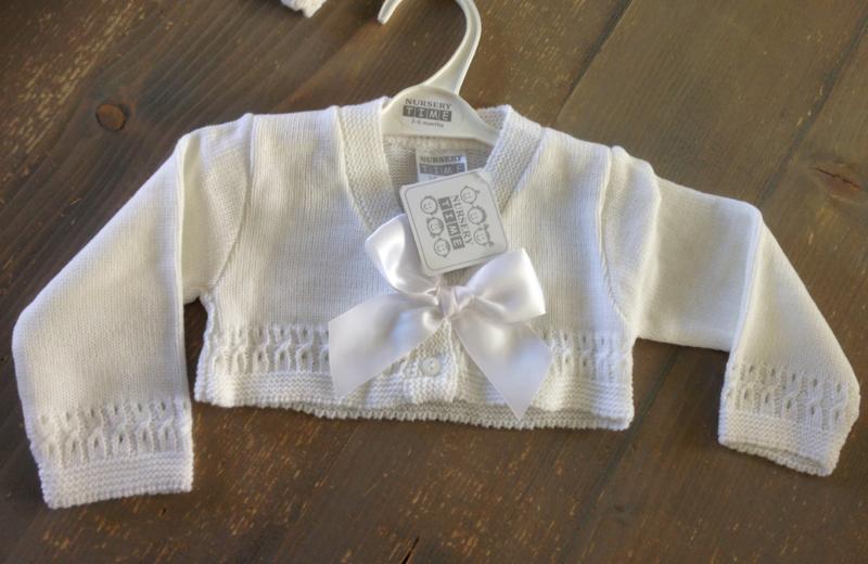 Babyvestje offwhite met strik