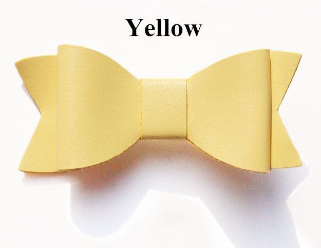 Strik leer 7cm geel