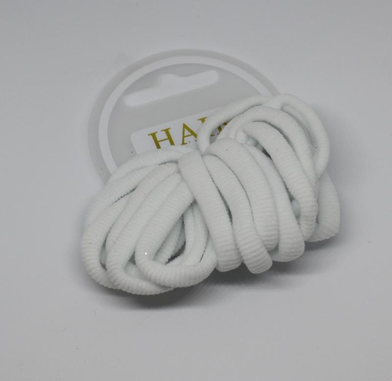 Set haarelastiekjes wit