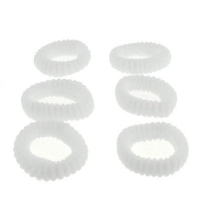 Set badstof elastiekjes wit