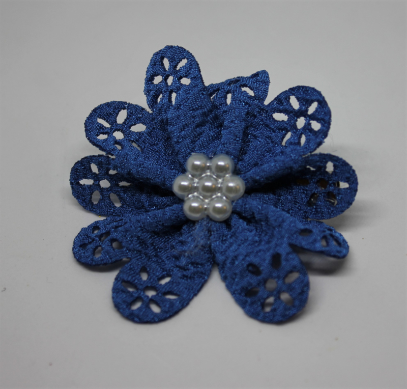 Bloem Irma kobalt blauw