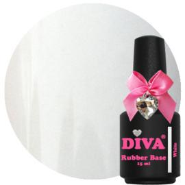 Diva Gellak Rubber Base Coat White 15 ml