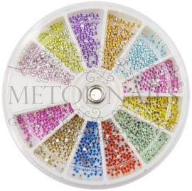 Strass rhinestones 1,5 mm 12 kleuren
