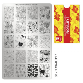 Moyra Stamping Plaat 06 Florality 1