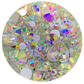 Diva Crystal Mix Rainbow different shapes